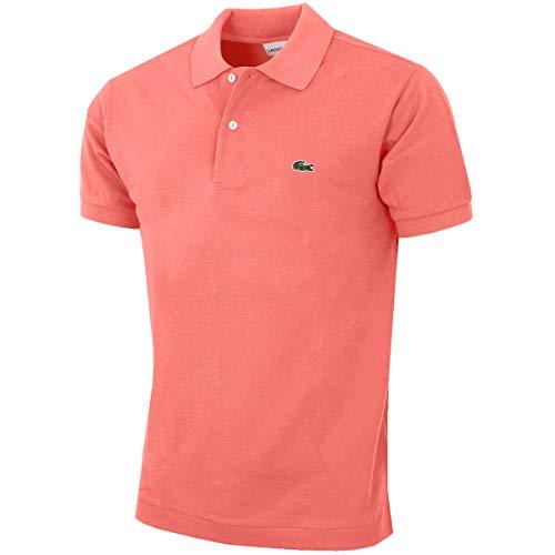 Button Down Cotton Polo Shirt (Lacoste L1212 Herren Polo Shirt Kurzarm,Männer Polo-Hemd,2 Knopf,Regular Fit,Amaryllis(F9C),Large (5))