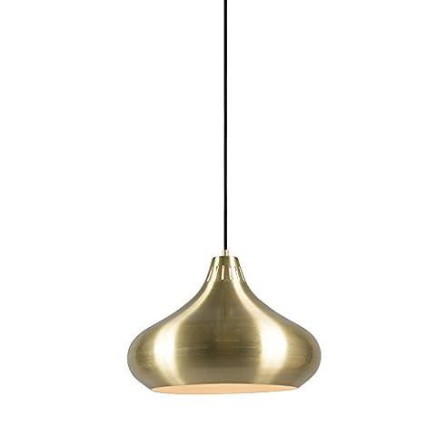 QAZQA Landhaus / Vintage / Rustikal Pendelleuchte / Pendellampe / Hängelampe / Lampe / Leuchte Odyssey messing / Innenbeleuchtung / Wohnzimmer / Schlafzimmer / Küche Metall Rund LED geeignet E27 Max. 1 x 60 Watt