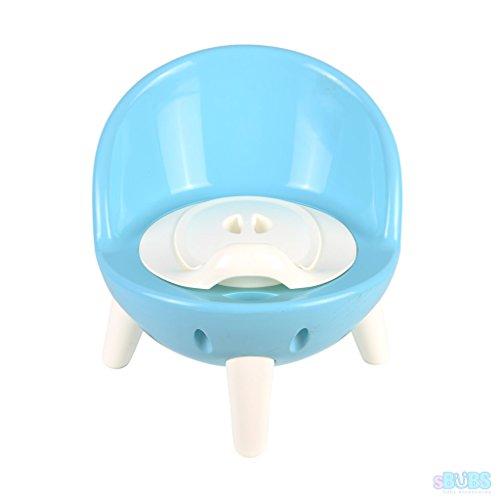 ¡nuevo! Potty Silla Para Los Niños Pequeños Con Tapa Extraíble - Alto Trasero Toilet Capacitación - Calidad 2 En 1 Para Niños De Taburete - Azul ...