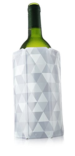 Preisvergleich Produktbild Vacu vin 38811616 Aktiv Kühler Motiv Diamant 0, 75-1L Aktiv Kühler, Kunststoff, Grau, 3 x 14, 5 x 19 cm