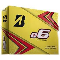 Bridgestone 2019 e6 Golfbälle, 12 Stück, Unisex-Erwachsene, E9YX6D, gelb, Einheitsgröße