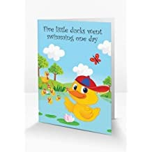 Cute & Interactive 'Five Little Ducks' Nursery Rhyme Themed Greeting Card Which Come To Life