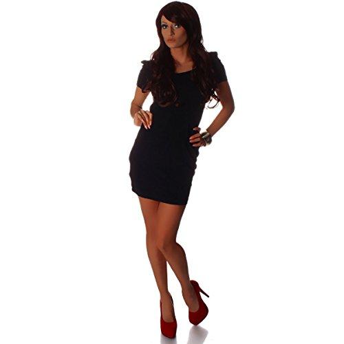 Fashion4Young - Robe - Taille empire - Femme noir noir XS=36 Noir