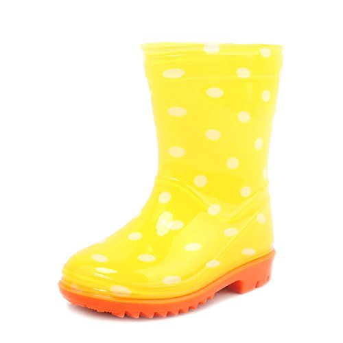 En plein air Enfants Princesse Anti-dérapant Pluie Bottes yellow