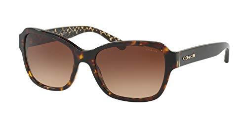 Coach - Damen-Sonnenbrille - Hc8232 56 L1010-56 mm Damen, Braun (türkis), Einheitsgröße