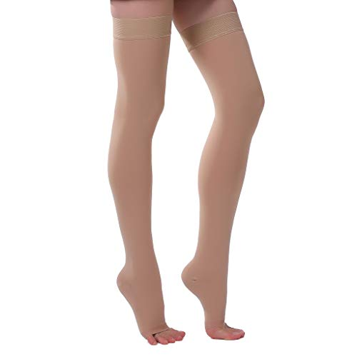 Ontex Cotton Compression Stockings Thigh Length For Varicose Veins - XXX-Large