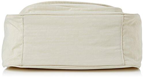 Kipling Damen Sunita Basic Plus Schultertaschen, 31x21x14 cm Beige (Dazzling Cream 32V)