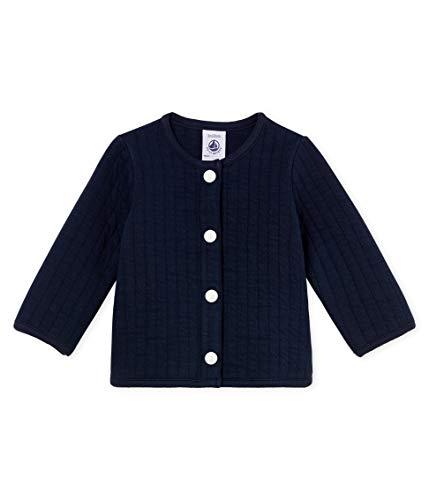 Petit Bateau Baby-Mädchen Strickjacke Cardigan_4728003 Blau (Smoking 03) 62 (Herstellergröße: 3M/60cm)