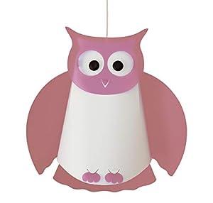 R&M Coudert - Lámpara de Techo Infantil, diseño de búho, Color Rosa