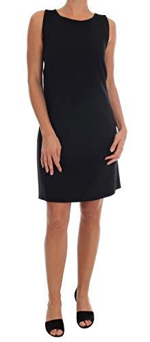 Black Wool Stretch Crystal Shift Dress - Dolce & Shift Gabbana
