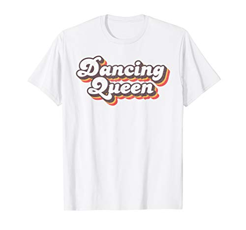 70s Dancing Queen Logo T-shirt, White or Lemon for Adults, Youth. S to 3XL