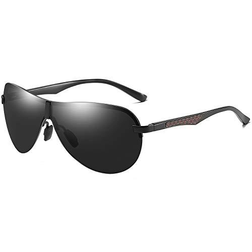 AORON Polarisierte Herren Sonnenbrille Metallrahmen Fahrer Brille