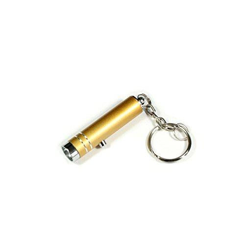 Preisvergleich Produktbild Kleine Taschenleuchte LED mit praktischer Anhänger-Öse (goldfarben)