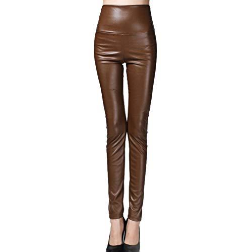 Yying Cintura Alta Gruesas Polainas Calientes Pantalones Delgados...