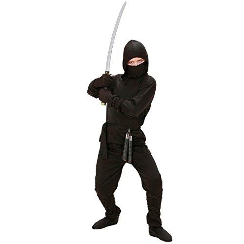 Kostüm Ninja Kämpfer - Amakando Kinder Ninjakostüm Ninja Kostüm 158 cm Samurai Kinderkostüm Krieger Fasching Asia Kämpfer Faschingskostüm Kampfsport Karnevalskostüm Sport Mottoparty Verkleidung Karneval Kostüme für Jungen