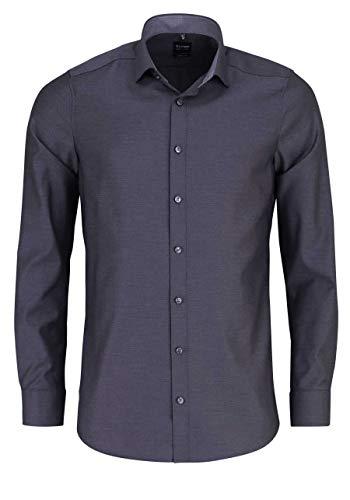 OLYMP Level Five Body fit Hemd Langarm Muster schwarz Größe 44