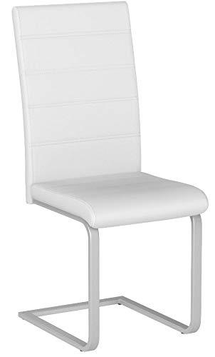 TecTake Set de sillas Cantilever de Comedor cantidades - (4X Blanco |...