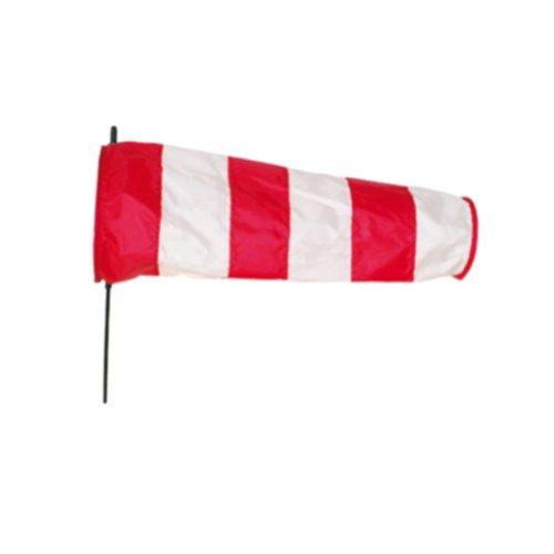 Rouge et blanc directionnelles Manche à Air avec piquet