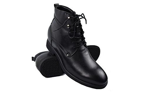 ZERIMAR Botas con Alzas Interiores para Hombres Aumento 7 cm | Zapatos de Hombre con Alzas Que Aumentan Su Altura | Zapatos Hombre | Zapatos Hombre Casuales | Color Negro Talla 40