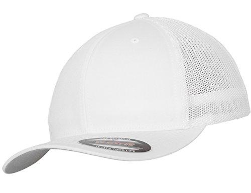 Damen Herren Unisex Webbing Trucker Cap weiß Snapback Hut Accessoires