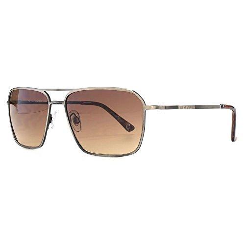 Ben Sherman Fine Frame Metal Square Sunglasses in Brushed Gunmetal BEN021