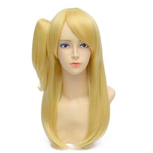 Baisheng FAIRY TAIL Layla Herzphilia Märchen Mädchen Prinzessin Goldene Blonde Gerade Zopf Kostüm Cosplay Perücke (base wig 50cm + pigtail - Golden Fairy Kostüm