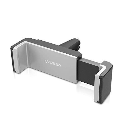 UGREEN 30283 - Soporte Móvil Coche de Rejillas de Ventilación 360 Grados Rotación Soporte Salidas de Aire para 3.8-6 Pulgadas iPhone X/ 8Plus/ 7/ 7Plus, Samsung Galaxy S9/ S8/ S7 Plus, OnePlus 5T/ 3Ty Más