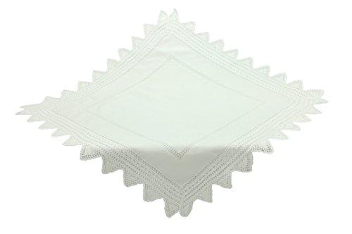 Bellanda 18XL719-85x85 eckig Tischdecke, Baumwolle, Weiß, 85 x 85 x 0.50 cm