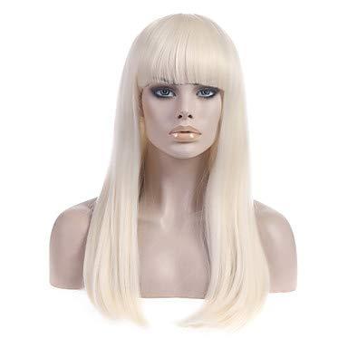 Schwarz Und Blonde Lady Gaga Perücke - YOHN OYHN Lange gerade hellblond Lady
