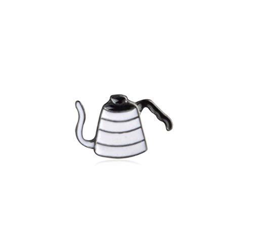 nacklcema Mädchen Brosche Anti-Light Kaffeeröster Abzeichen Mühle Brosche Mini Kaffee Zubehör Schmuck Cafe Exklusive Abzeichen, A