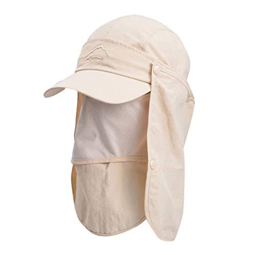 Sonnenhut für Sommer und Freien, mit Boonie-Kappe, verstellbar, Baseballhut unter 5 US-Dollar beige