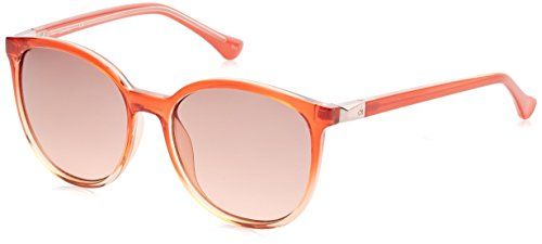 Calvin Klein Damen Cat Eye Sonnenbrille, Orange, 57