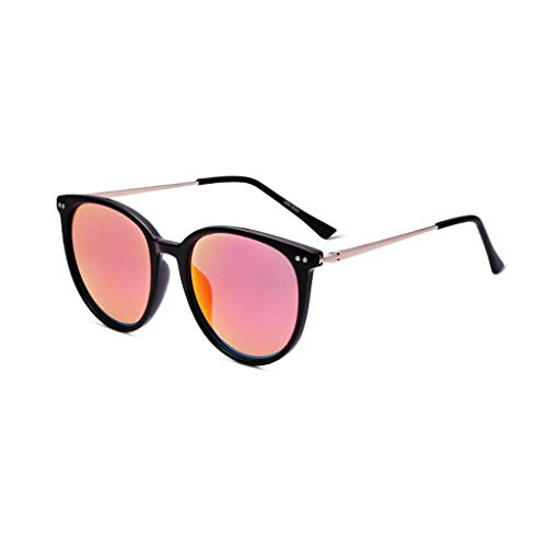 YIWU Sonnenbrille Frau Large Frame Round Face Polarizer Mode Wild Color Film Objektiv UV-polarisierte Gläser (Color : 4)