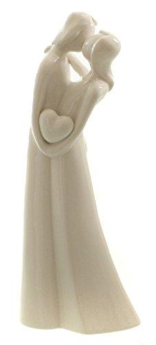 DIO exklusive Porzellanfigur, Dekofigur Liebespaar, weiß glasiert, 9,5x5,5x23 cm
