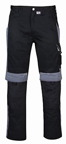 PKA BestWork Bundhose Arbeitshose (50, Schwarz/Grau)