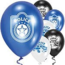 Police Officer Car Chase Party Latex Balloons - pack of 6 - perfect for aspiring Police Officers
