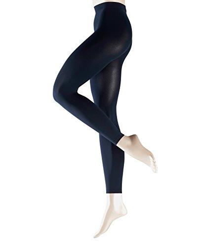 (FALKE Damen feine Strumpfhosen / Leggings Pure Matt 100 den - 1 Paar, Gr. S, blau, blickdicht, exzellenter Tragekomfort)