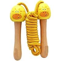 LridSu Cuerda de Saltar de algodón de la manija de Madera Cuerda de Salto de la Historieta Linda para Hacer Ejercicio de Cardio de los niños