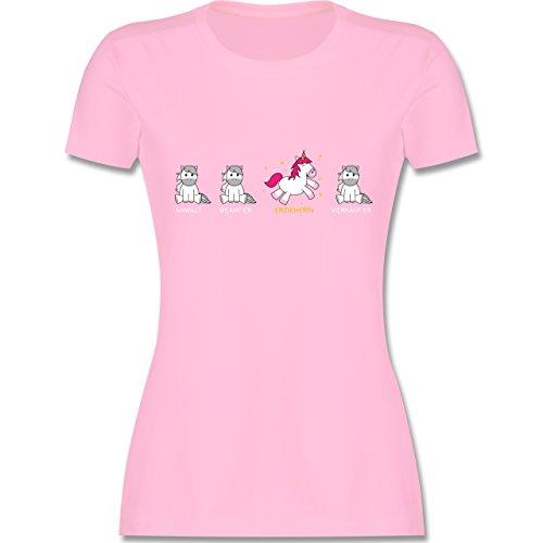 Shirtracer Sonstige Berufe - Erzieherin Einhorn - Damen T-Shirt Rundhals Rosa