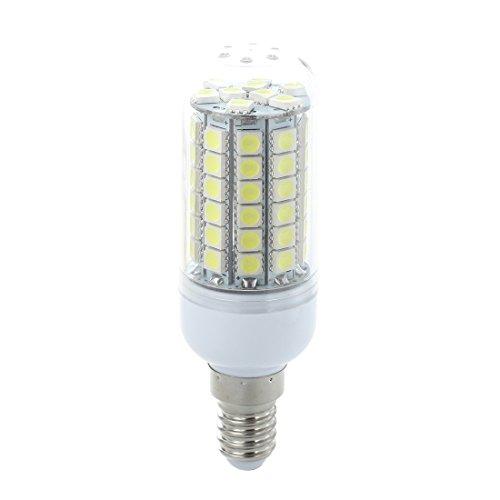 SODIAL(R) 10x E14 8W 69 LED 5050 SMD Lampe Leuchtmittel Spot Strahler Birne AC 220V Weiss