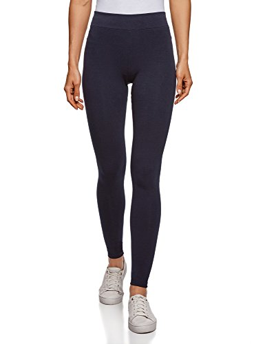 oodji Ultra Damen Jersey-Leggings Basic, Blau, DE 38 / EU 40 / M
