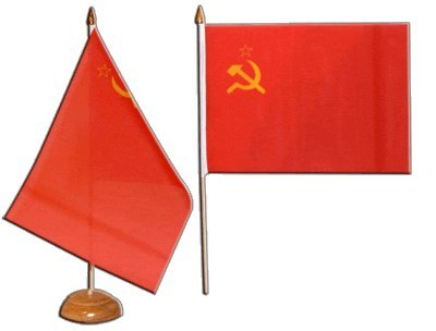 Tischflagge / Tischfahne UDSSR Sowjetunion + gratis Aufkleber, Flaggenfritze®