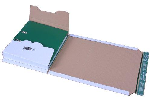 progressPACK Ordnerversandverpackung Premium PP O06.01 aus Wellpappe, DIN A4, 320 x 290 x bis 80 mm, 20-er Pack, weiß