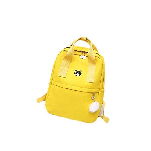 Mochila amarilla ligera para viajar de mujer