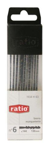 Ratio 1934H63 Sägeblätter für Holzarbeiten, spiralförmig, 13cm, Nr. 6