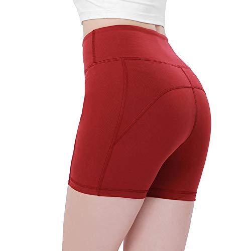 NYSLTC Sportshorts Fitness-Yoga-Shorts hohe Taille Hüften eng rot L -