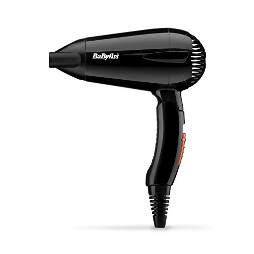 BaByliss Travel 2000 W Hair Dryer - Black