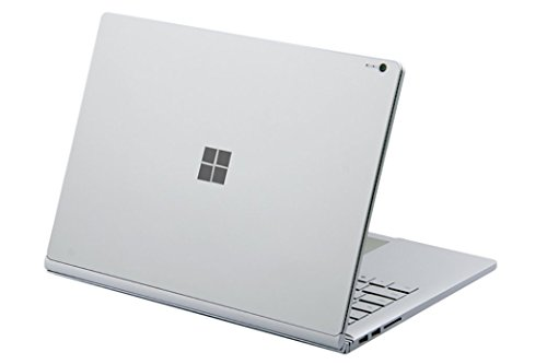 DolDer Microsoft Surface Book Skin Chrome-Soft-Silver Designfolie Sticker für Surface Book