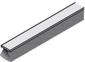 Türdichtung Bürstendichtung Tür Streifenbürste 2500 mm Türbürste mit Trägerprofil für...
