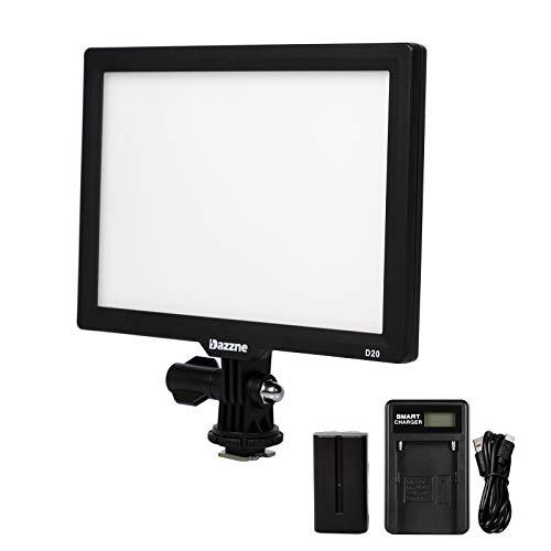 Dazzne D20 Luz de Vídeo Cámara Bicolor Luz Panel 3200k-5600k Iluminación Profesional para Cámaras Digitales SLR Canon, Nikon, Pentax, Panasonic, Sony, Samsung y Olympus